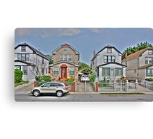 The little houses Canvas Print