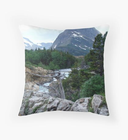 THE RUN FROM SWIFTCURRENT LAKE Throw Pillow