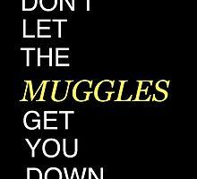 Muggles Print Hufflepuff by Brooke  Hager