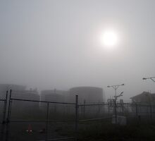 Tanks At Petrocor In The Fog by Gary Chapple