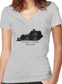 Rat Pack University of Kentucky Stage Combat Women's Fitted V-Neck T-Shirt