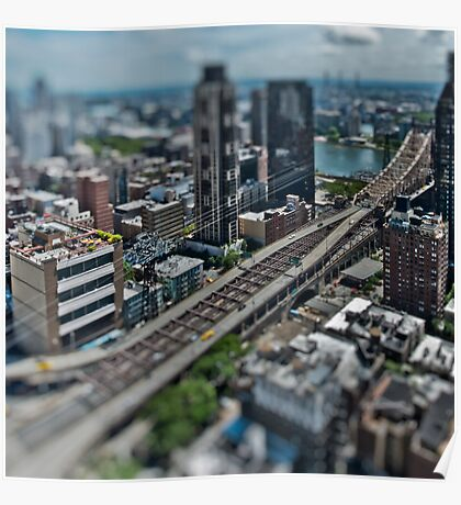 59th Street Bridge in Miniature Poster