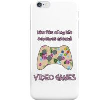 Floral video game controller iPhone Case/Skin