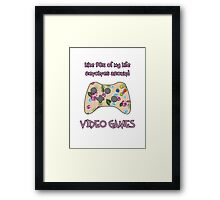 Floral video game controller Framed Print