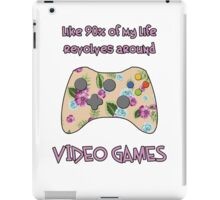 Floral video game controller iPad Case/Skin