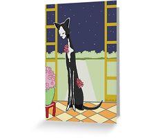 Art Deco Cat Greeting Card