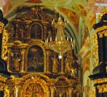 Altar, Parish Church of the Virgin Mary, Ptujska Gora, Slovenia Sticker