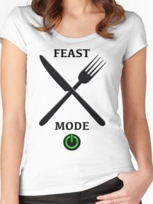 Feast Mode - Light Background Women's Fitted Scoop T-Shirt