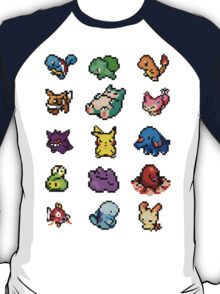 Pixel Pokemon sticker pack T-Shirt