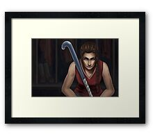 The Field Hockey Player Framed Print