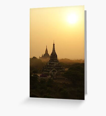 Old Bagan, Myanmar Greeting Card