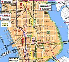 Manhattan Map by Joeytacos