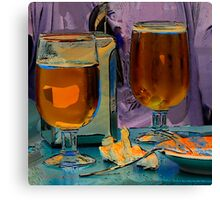Beer and Tapas at Bar Peri Canvas Print