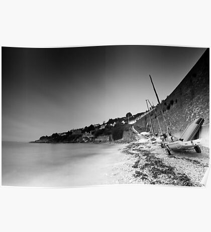 Smooth St. Mawes Daybreak BW Poster