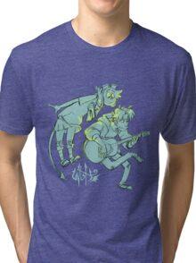 W2H - Guitar (acronym logo) Tri-blend T-Shirt