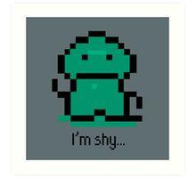 I'm shy - EarthBound Tenda Art Print