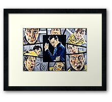 The Curse of Genius Framed Print