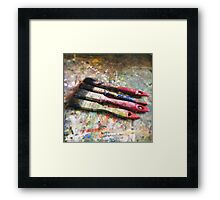 Four Paintbrushes Framed Print