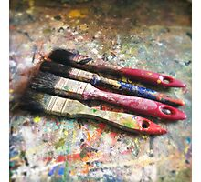Four Paintbrushes Photographic Print