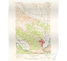 USGS Topo Map Washington State WA Selah 243661 1958 24000 Poster