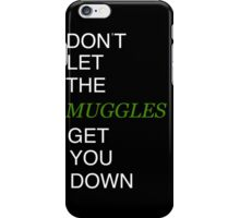 Muggles Print Slytherin iPhone Case/Skin