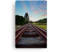 Departing Mooball Canvas Print