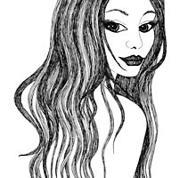 Bedroom Eyes - this femme fatale beckons by Lisa Frances Judd~QuirkyHappyArt