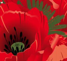 Mohnblumen Sticker