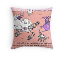 caricature du NASA Curiosity sur Mars Throw Pillow