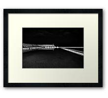 Newcastle Ocean Baths at Night, mono Framed Print