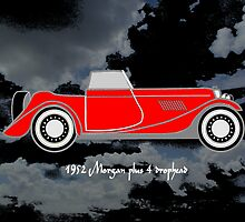 1952 Morgan Plus 4 drophead, vintage sports car by Dennis Melling