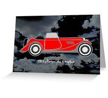 1952 Morgan Plus 4 drophead, vintage sports car Greeting Card