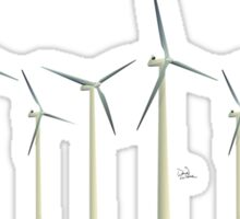 Wind Turbines II Sticker