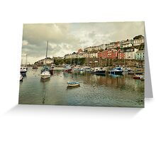 Brixham harbour 2 Greeting Card