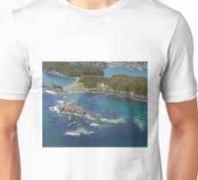 Aerial of Seaplane Jetties, Kodiak, Alaska  Unisex T-Shirt