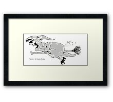 Eco-Witch - Jet Propulsion Naturally Framed Print