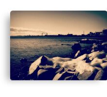 Cold Blue Duluth Canvas Print