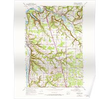 USGS Topo Map Washington State WA Ridgefield 243455 1954 24000 Poster