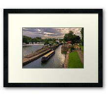 The River Thames at Goring Framed Print