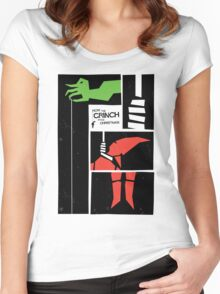How Saul Bass Stole Christmas Women's Fitted Scoop T-Shirt