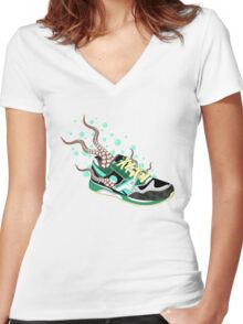 Octo-Sneak Women's Fitted V-Neck T-Shirt