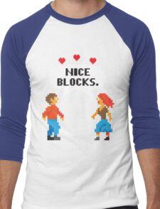 NICE BLOCKS Men's Baseball ¾ T-Shirt