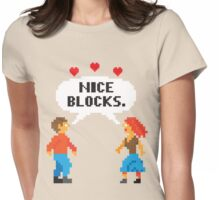 NICE BLOCKS Womens Fitted T-Shirt