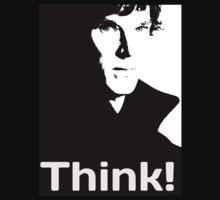 "Sherlock ""THINK!"" - Hoodie Pullover by hazelbasil"