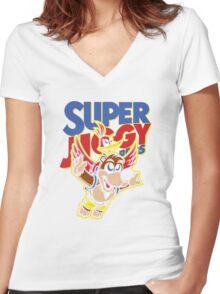 Super Jiggy Bros Women's Fitted V-Neck T-Shirt