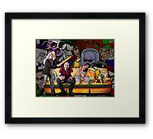 Olympic couch potato team Framed Print