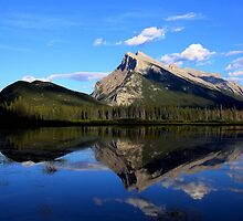 Mount Rundle and Vermillion Lake by Vickie Emms