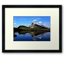 Mount Rundle and Vermillion Lake Framed Print