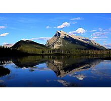 Mount Rundle and Vermillion Lake Photographic Print