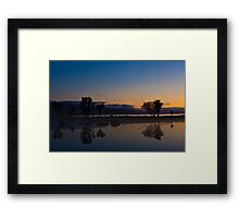 Fog over the pond Framed Print
